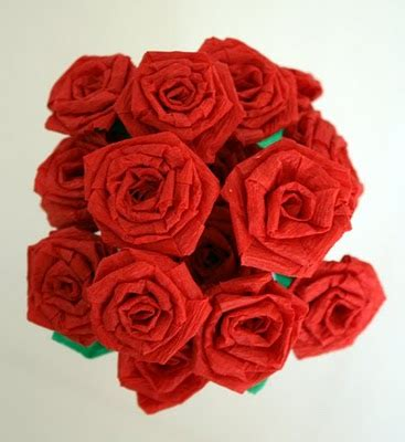 Roses Out Of Paper - make crepe paper roses 187 dollar store crafts