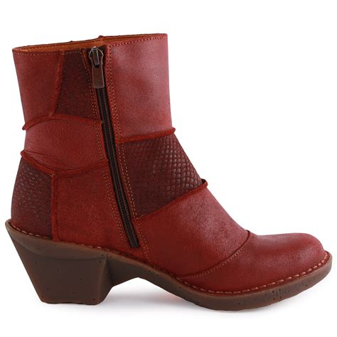 oteiza 663 womens leather wine ankle boots new shoes