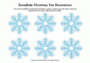 print out decorations snowflake printables