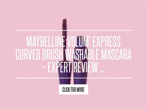 Maybelline Volum Express Curved Brush Washable Mascara Expert Review by Maybelline Volum Express Curved Brush Washable Mascara