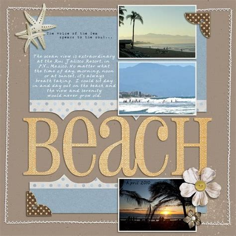 layout of scrapbook beach scrapbook page scrapbook pages pinterest