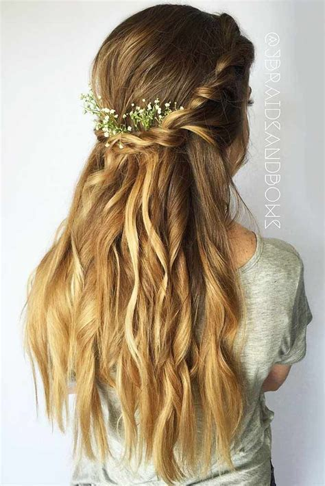 super cute christmas hairstyles for long hair see more