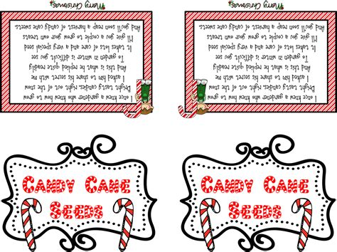 elf on the shelf magic seeds free printable the honey bunch free candy cane seeds tags december