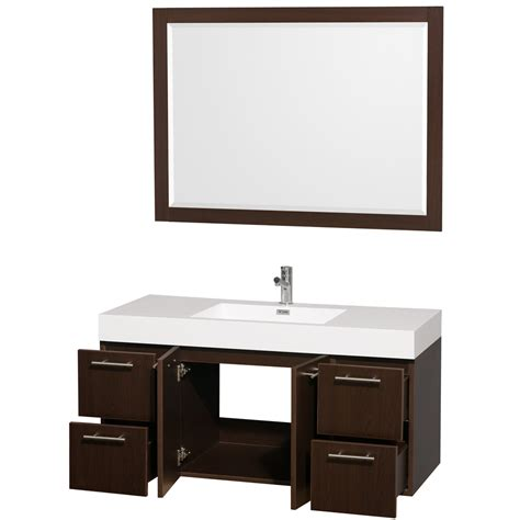 Mounted Vanity by Amare 48 Quot Wall Mounted Bathroom Vanity Set With Integrated