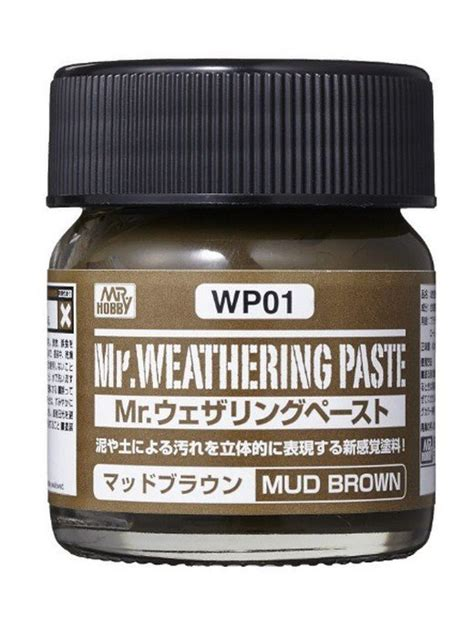 Mr Spare Bottle 80 Ml Mr Hobby mr hobby wp01 mr weathering paste mud brown 40ml