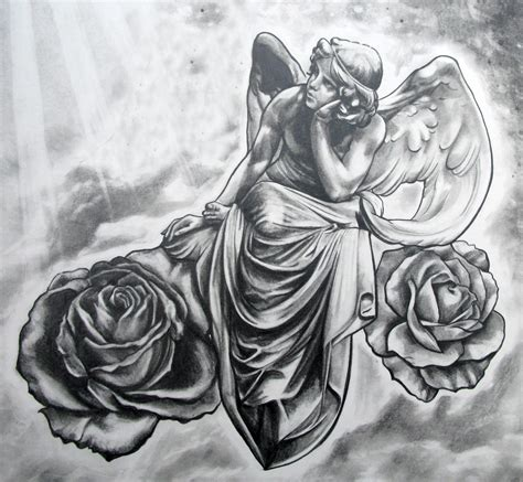 angel tattoo drawings gudu ngiseng sketch