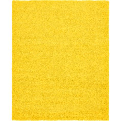 tuscan yellow unique loom solid shag tuscan sun yellow 8 ft x 10 ft
