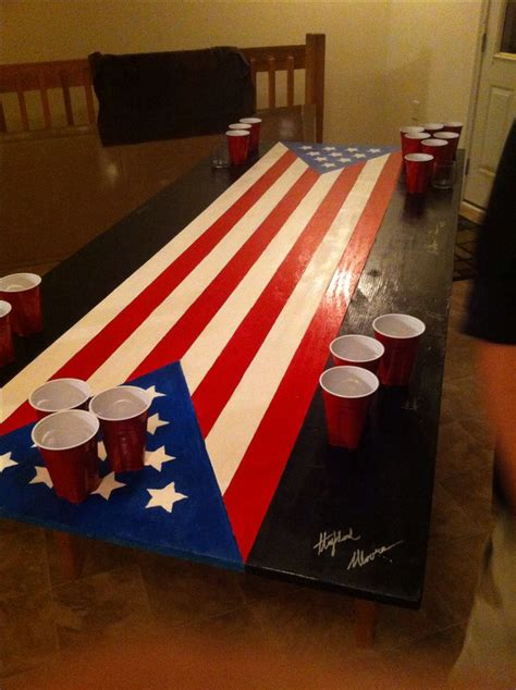 wooden beer pong table designs www imgkid com the