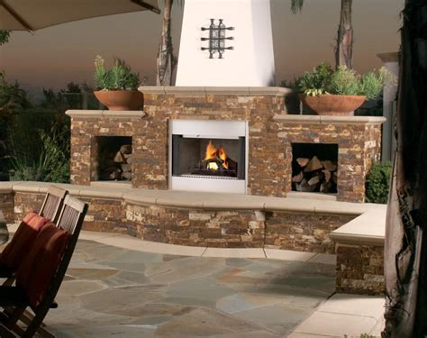 sided outdoor fireplace when a 2 sided fireplace is preferable option fireplace