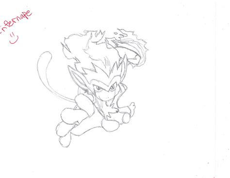 Giveaway Drawing - infernape drawing giveaway by xnekorainbow on deviantart