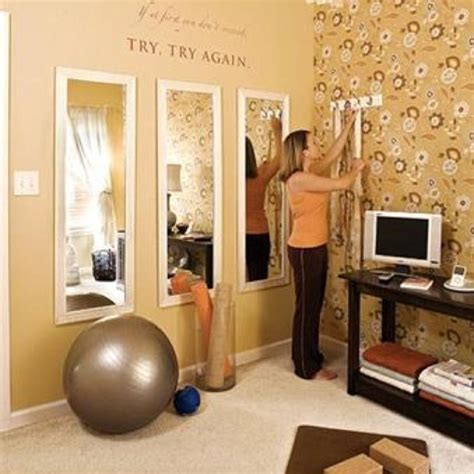 small home gym ideas cheap wal mart mirrors in multiples workout room