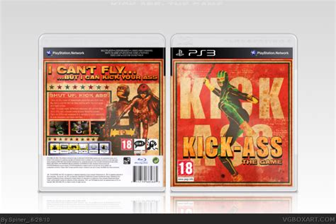 game design kickass kick ass playstation 3 box art cover by spiner