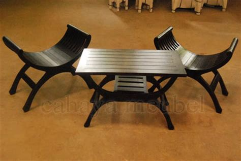 Kursi Yuyu kursi teras yuyu minimalis kayu jati jepara cahaya mebel jepara
