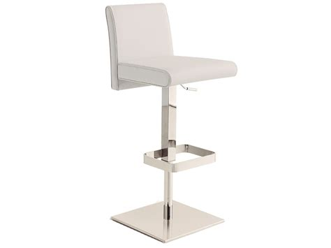 white leather bar stools contemporary vitale italian white leather modern bar stools