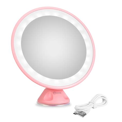 suction cup mirror bathroom vanity magnifying led shaving bathroom makeup cosmetic