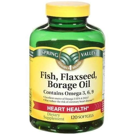 y span dietary supplement valley fish flaxseed borage 120ct contains