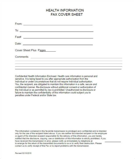 free printable medical fax cover sheet 26 fax cover sheet templates free word pdf formats