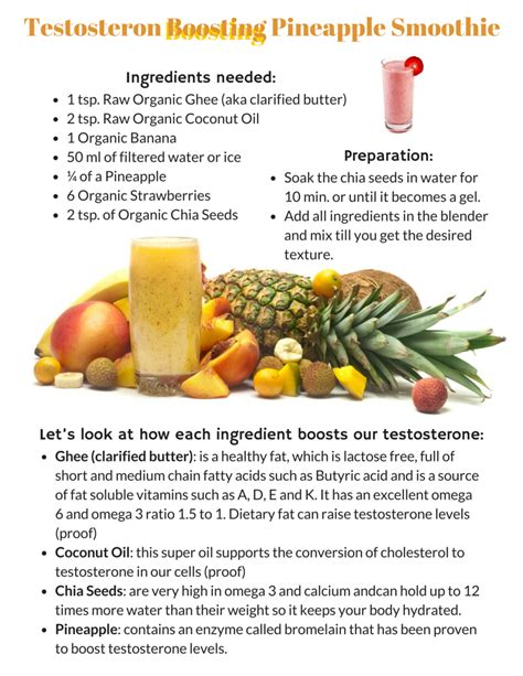 Detox Androgen Food by Recipe For A Testosterone Boosting Pineapple Smoothie That