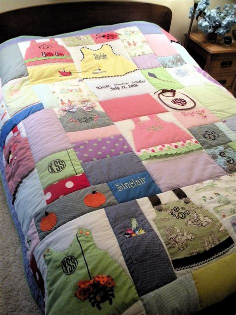 How To Make Patchwork Quilt From Baby Clothes - baby clothes quilt crafts sewing quilts blankets