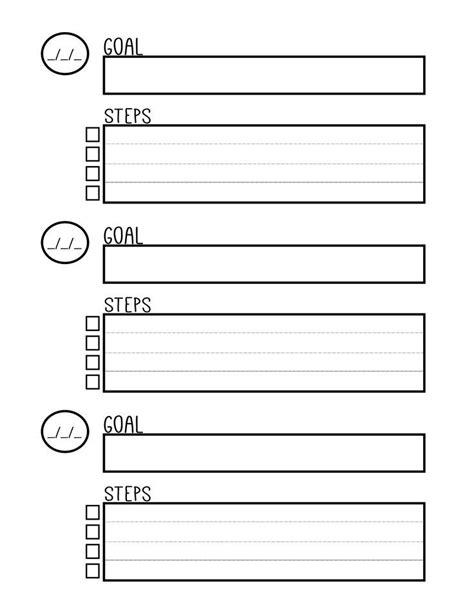 printable planner goals free printable goal setting worksheet planner setting