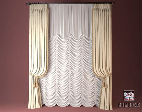 curtain models new 3d model french curtain kupfer3d