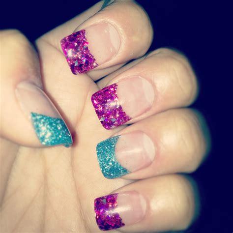 acrylic nail tips glitter acrylic nail tips awesome nails