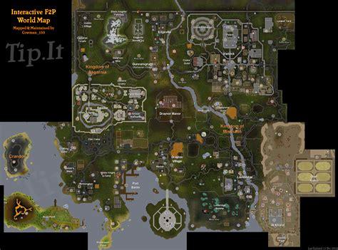 osrs runescape wilderness map tip it runescape help f2p world map the original