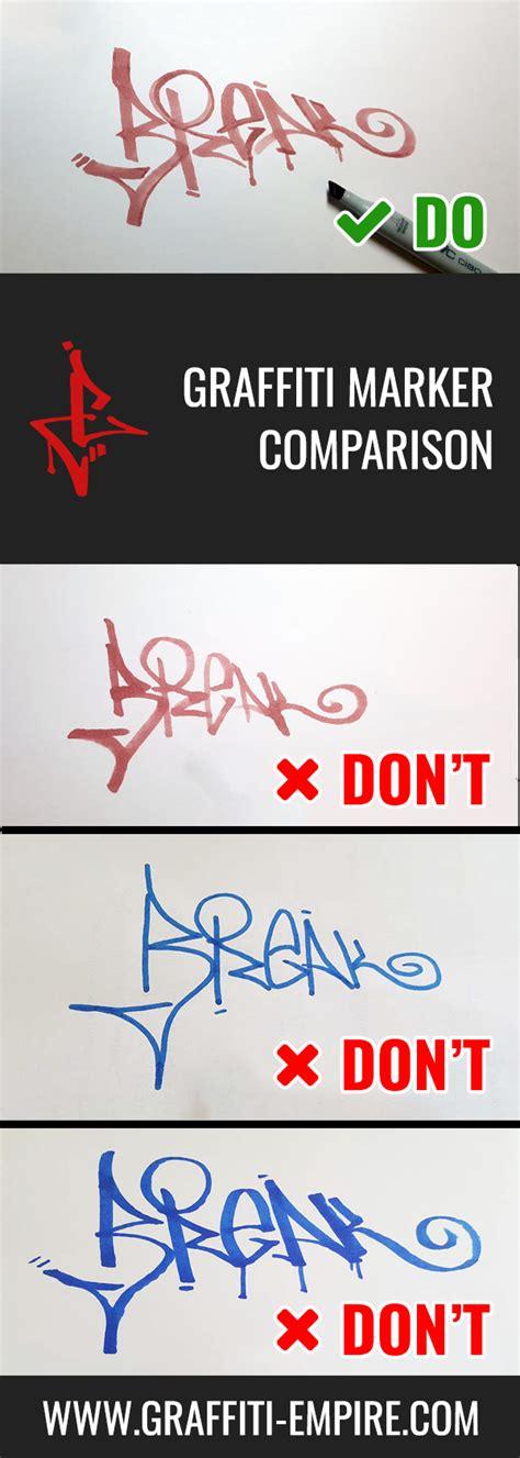 graffiti markers comparison