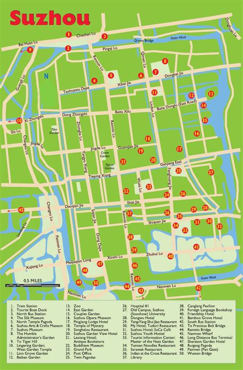 attractions in map suzhou travel maps printable hi res tourist map of