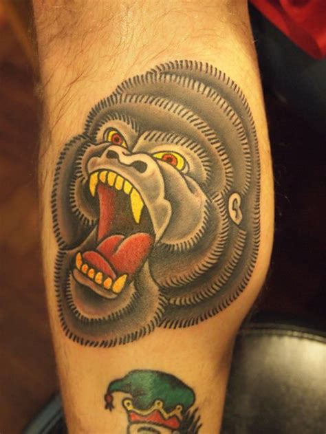 traditional gorilla tattoo 17 best school images on