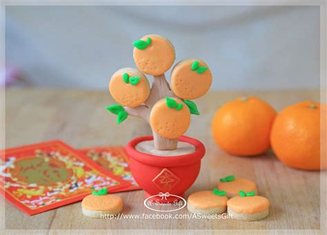 types of new year decorations mandarin cookies tree for new year cookie connection