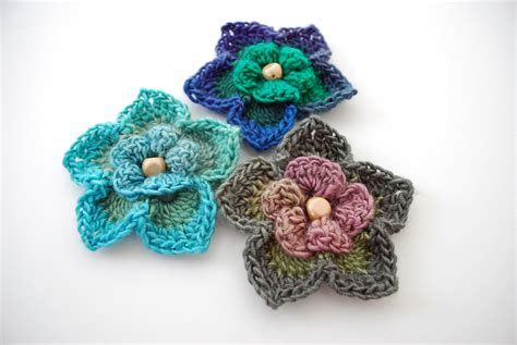 free pattern for crochet flowers free crochet flower pattern lovely layers flower