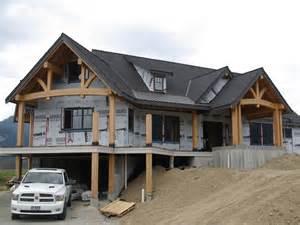 Timber Frame Hybrid House Plans Hybrid Timber Home Bc Canada Log Timber Homes