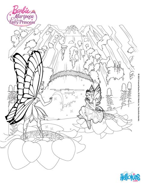 barbie rainbow coloring pages glow waterfalls coloring pages hellokids com