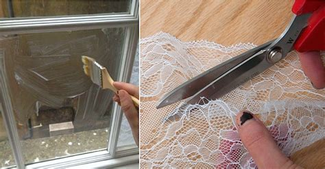 her bedroom window she transforms her bedroom by brushing cornstarch on windows and putting privacy