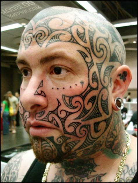 full body and face tattoo tribal bme tattoo piercing and body modification news