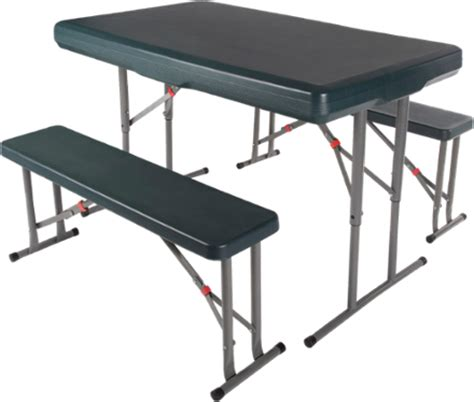 stansport folding table with bench seats rei garage