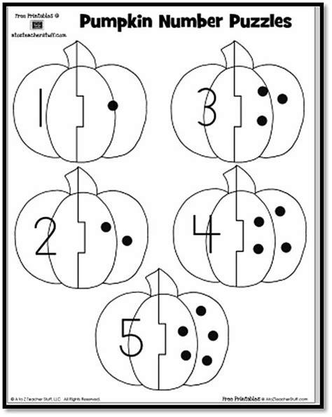 printable pumpkin numbers pumpkin number puzzles free printables teaching
