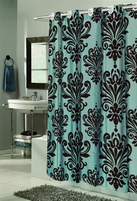 Brown And Teal Curtains Teal And Brown Shower Curtain