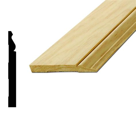 L Wood Base by American Wood Moulding L 163e 9 16 In X 5 1 4 In X 96 In