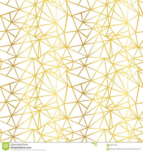 gold geometric pattern wallpaper vector white and gold foil wire geometric mosaic triangles