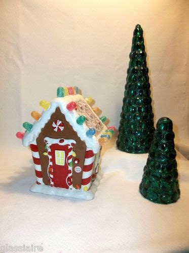 ceramic gingerbread house with lights pin by glassiaire vintage on vintage
