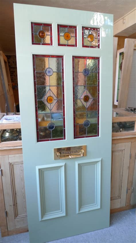 glass inlay front doors a style stained glass front door incorporating 3