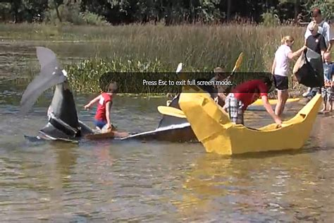 cardboard boat building rules how to build a cardboard boat video