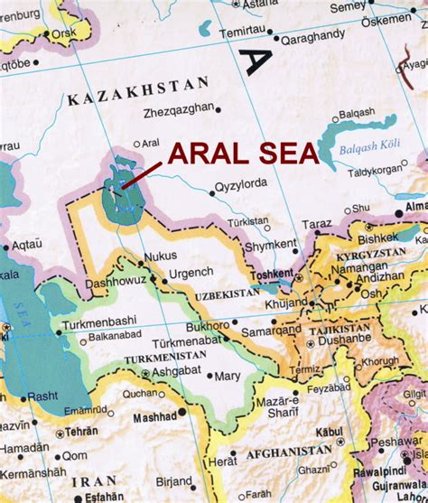 aral sea map nature page gordon s corner of arts and nature