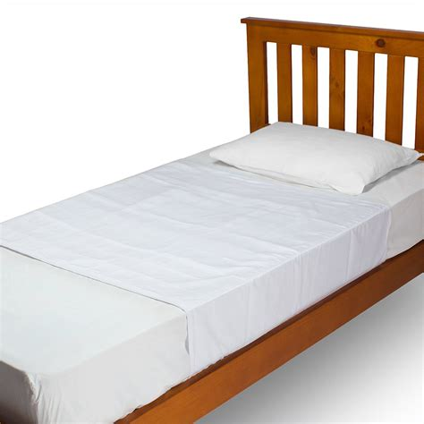 brolly sheets single bed pad with wings white ebay