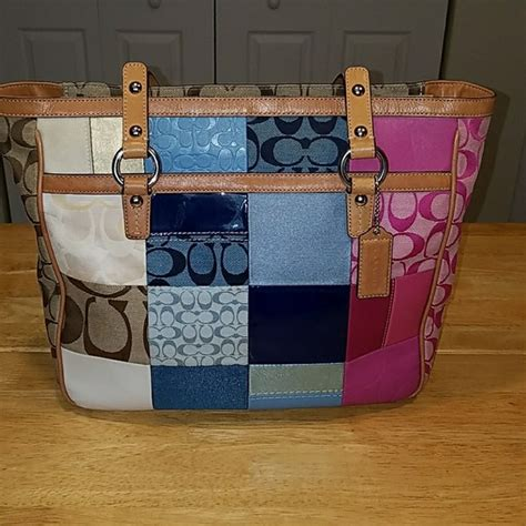 Coach Patchwork Tote - 64 coach handbags coach summer patchwork tote