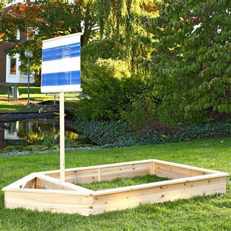 blue boat sandbox wooden pirate ship sandbox kids childrens garden play boat