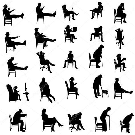 silhouette persone sedute vector silhouettes of vector stock 169 majivecka