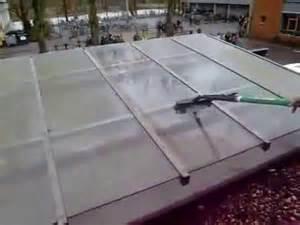 wintergarten glasdach reinigen reinigung eines glasdachs
